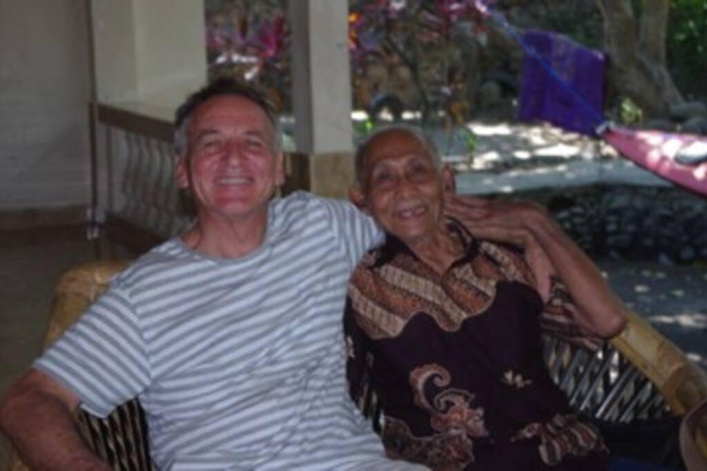 Glenn, with Pak Hariadi