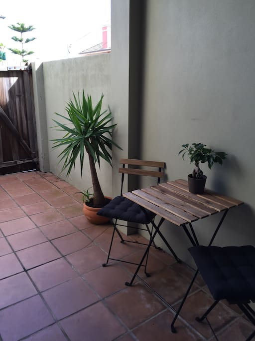 Private courtyard with bbq