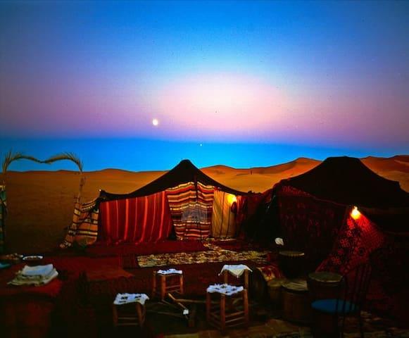 bivouac au desert - Hassilabied - Telt