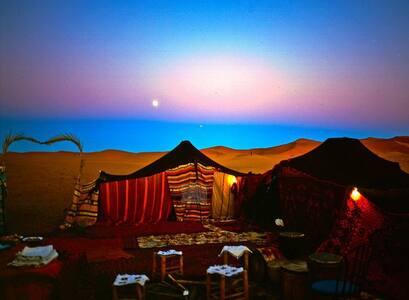 bivouac au desert - Hassilabied - Zelt