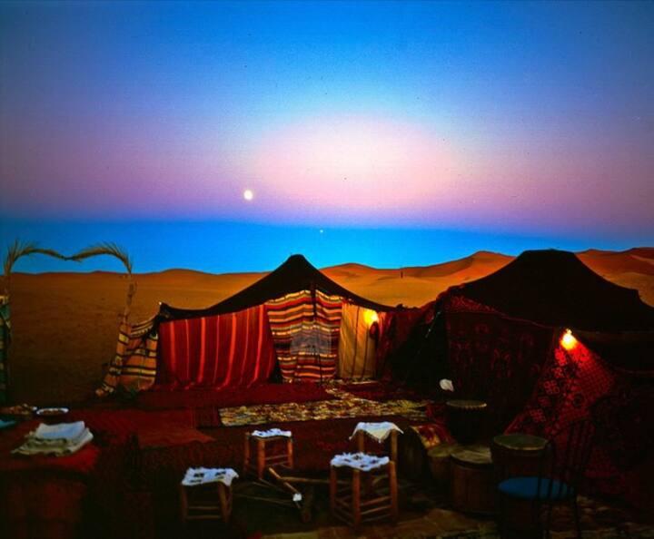 bivouac au desert