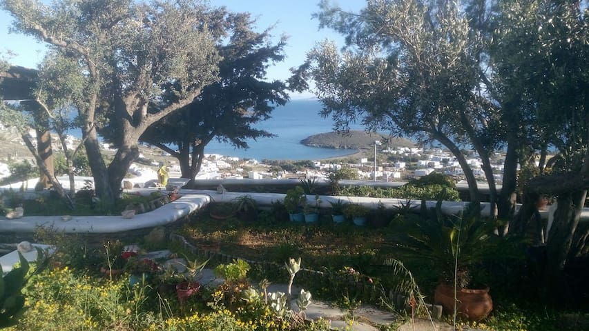 Tinos Traditional Stone House with Panoramic View