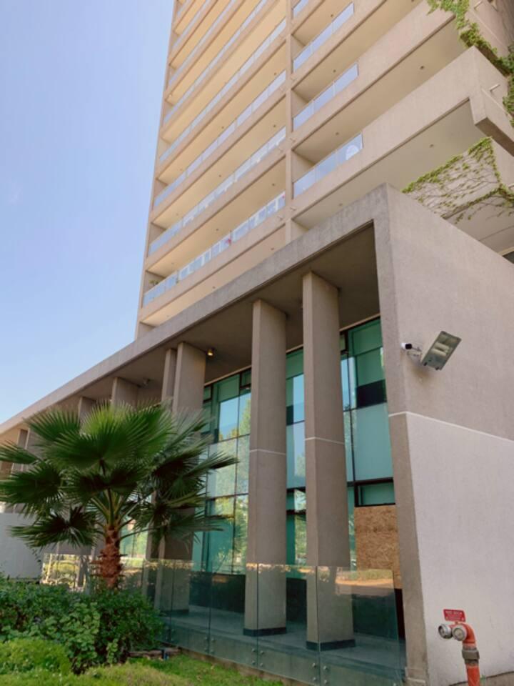 Departamento en Providencia con terraza panorámica