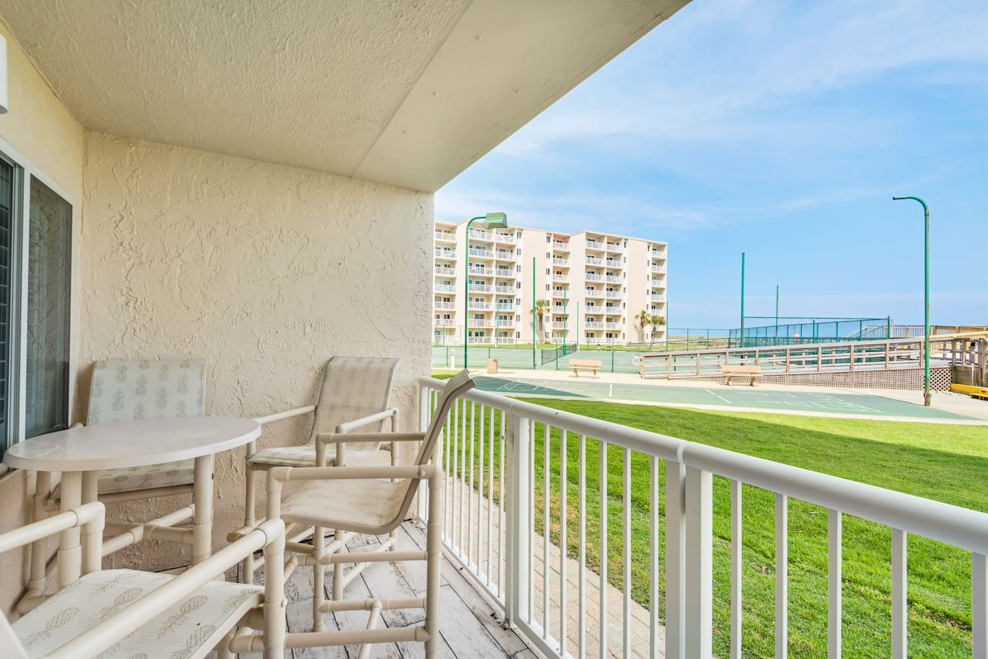Walk straight out to the Beach, Pool or Tennis!