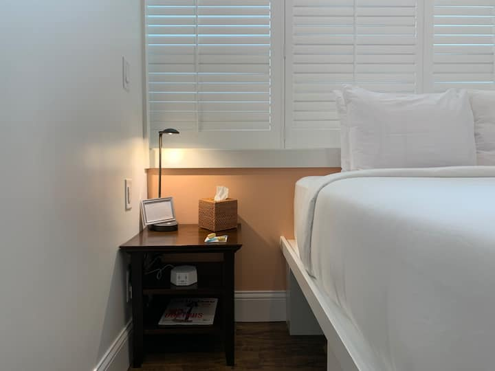 1 Queen, 1 Twin loft, new downtown boutique hotel