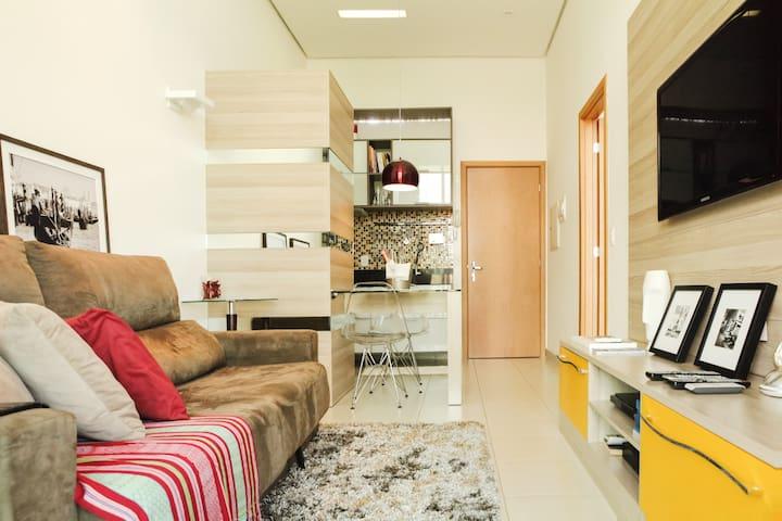 Sala integrada com a cozinha