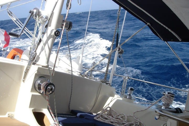 luxury yacht sailing in South Italy
