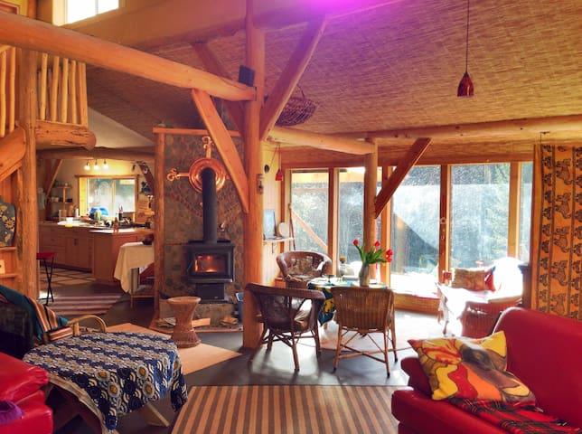 Unique Eco Strawbale House