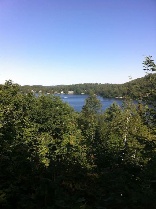 View of Lac Masson, property is lakeside.