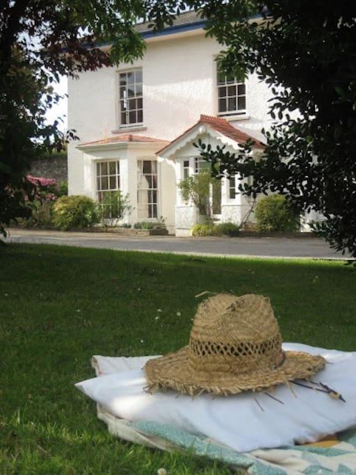 Myrtleville House  front garden.