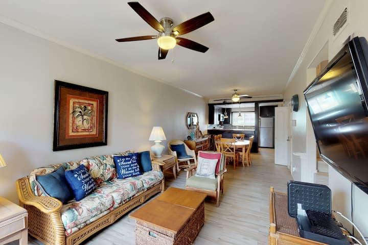 Family condo w/ balcony & shared pool - beach across the street!