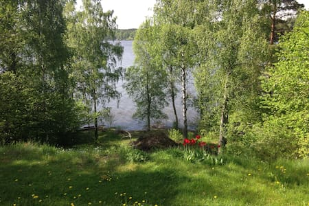 Solbacken - Lantlig idyll vid sjö - Vagnhärad - Mökki
