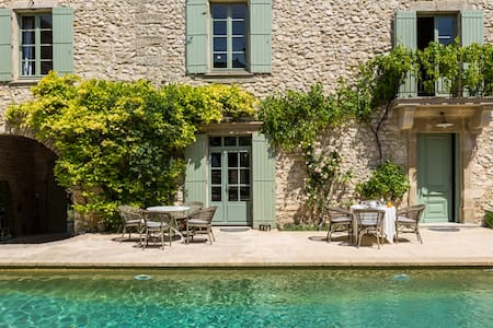 Le Mas de la Chapelle - Chambre Bleue - Sainte-Anastasie - Aubarne - Bed & Breakfast