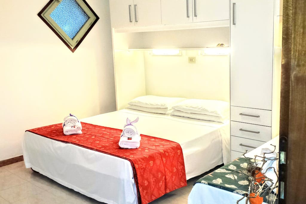 1 bedroom with double bed with triple sheets and extra blankets if requested