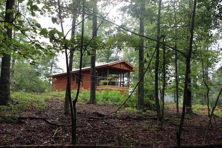 Private Cabin in woods near brew and wine trail