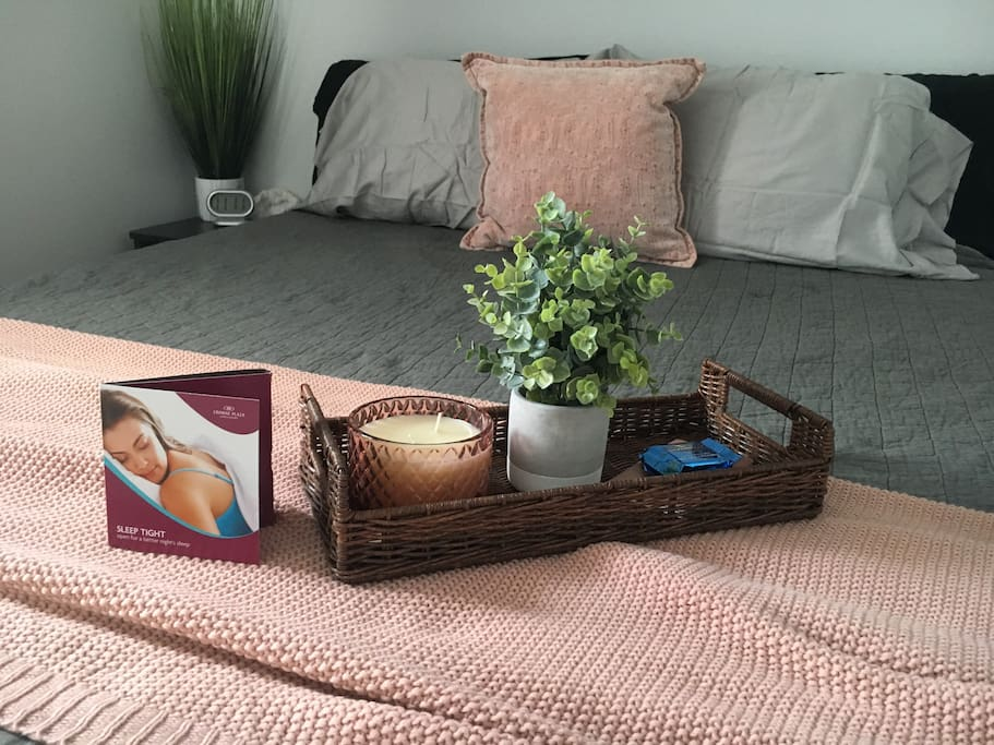 Guest room - enjoy some chocolates! We will also have water for you.