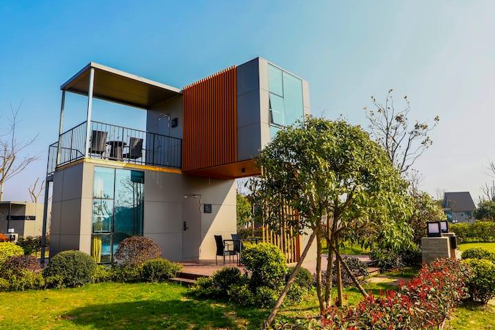 B区家庭欢聚房 独院上下两户 花园轻奢型度假民宿