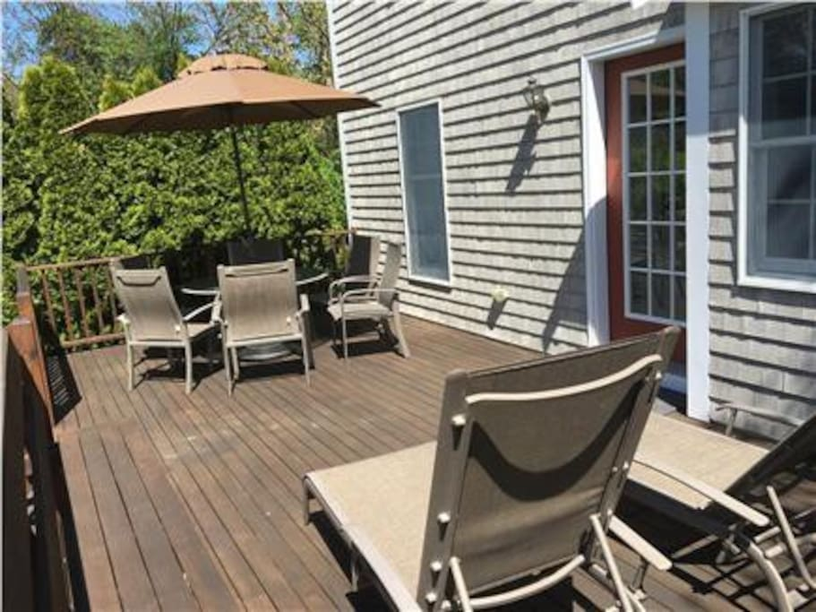 Enjoy dining or lounging on the deck!