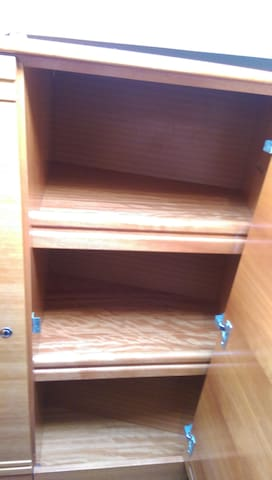 There are plenty of closets, shelves and other compartments