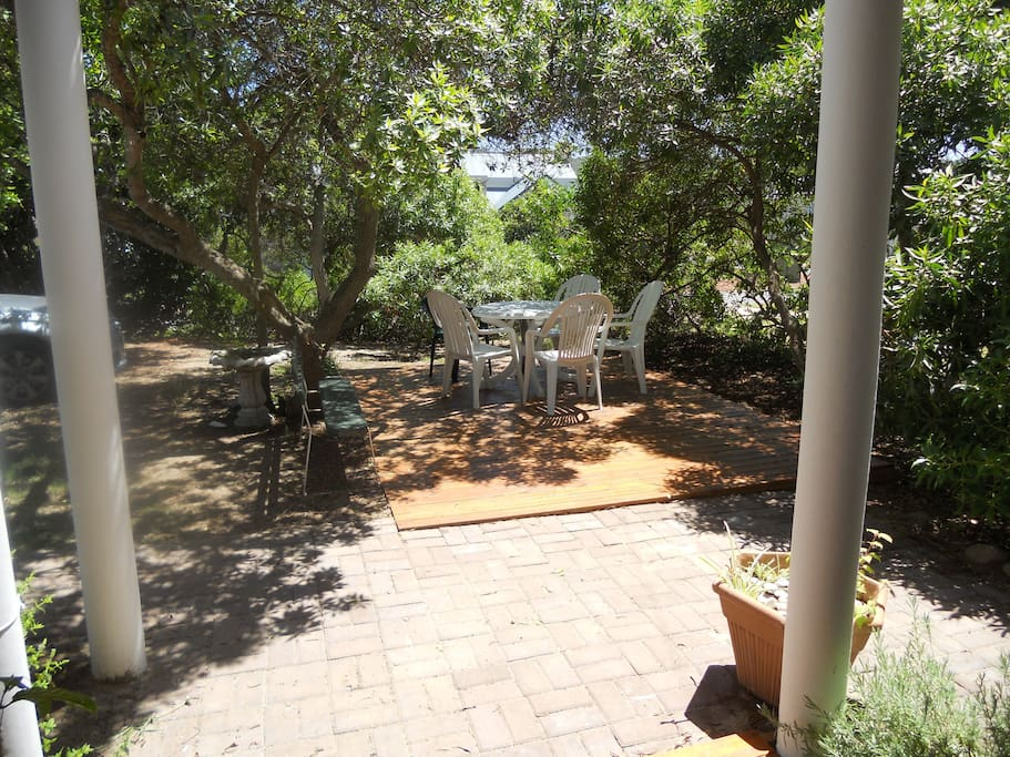View from front door to braai area