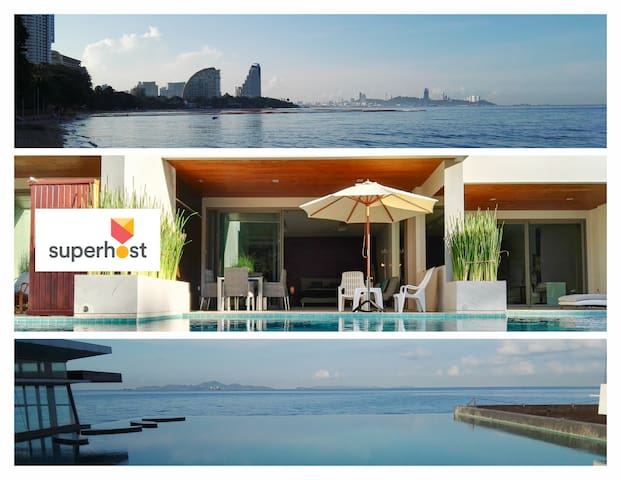 Fantastic Beachfront Pool Access - Muang Pattaya - Lejlighed