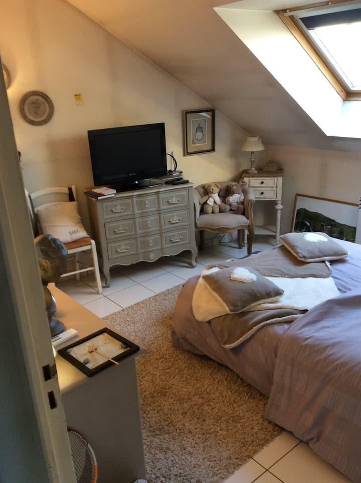 Belle chambre claire/maison ancienn