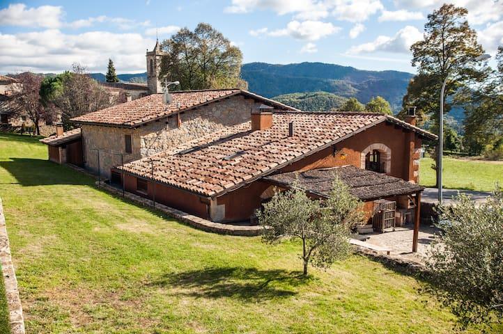 Casa rural 2 con piscina compartida - Santa Maria de Besora - Rumah