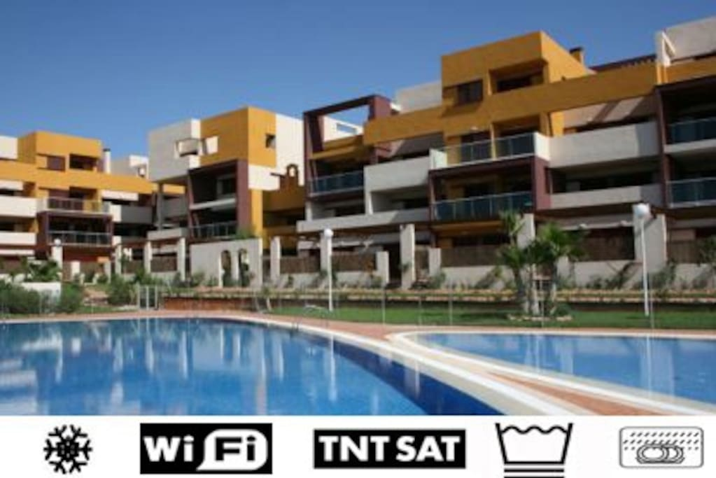 Apartment With A Huge Swimming Pool Apartments For Rent