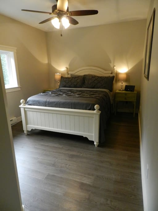 Lovely bedroom with a queen-size bed!