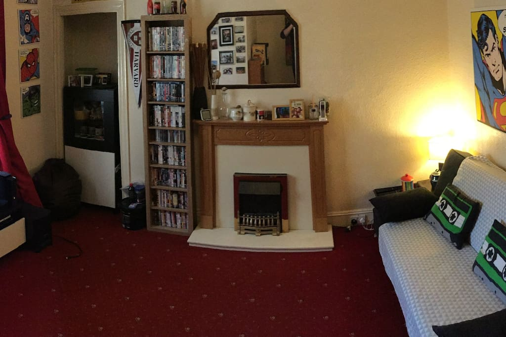 Spacious living room with access to TV and Internet
