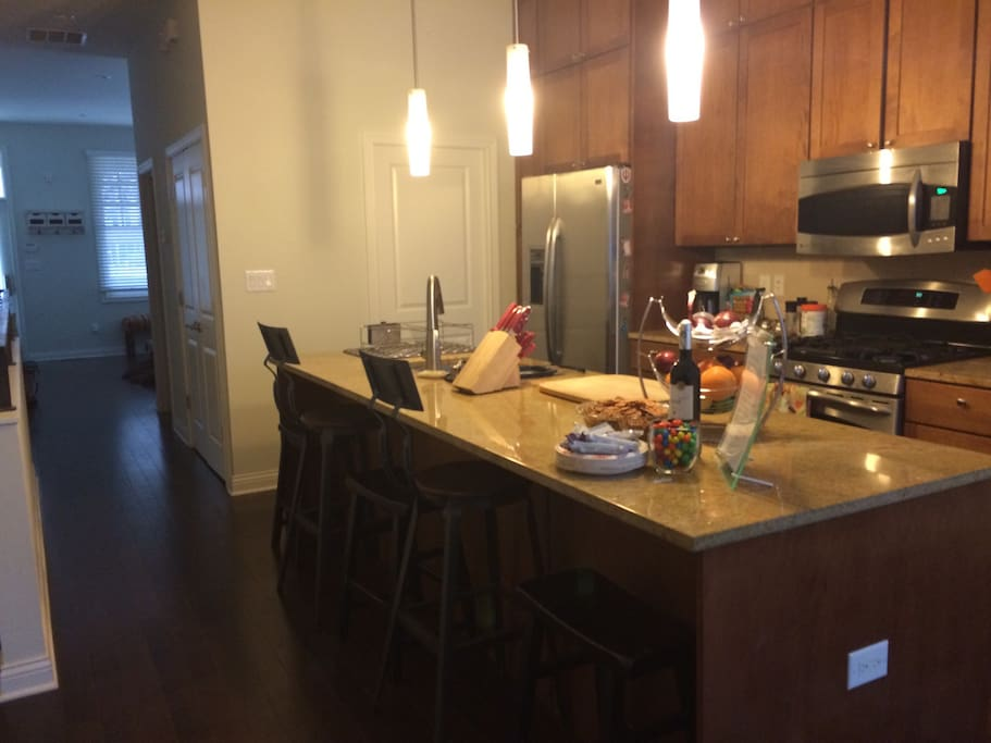 Fully functional kitchen with stainless steel appliances