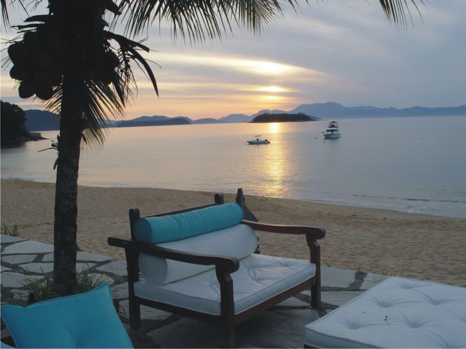 Deck frente para o mar