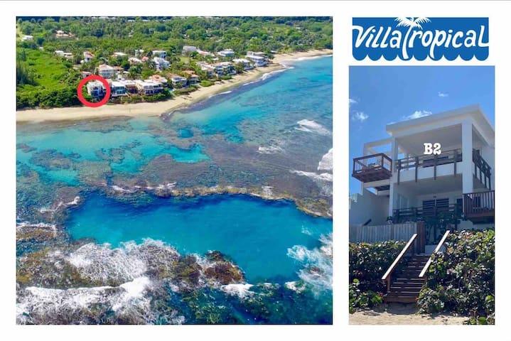 """Villa Tropical's Oceanfront High """"B2"""" @ShacksBeach"""