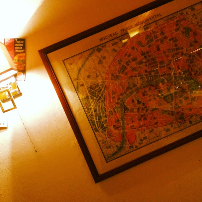 Old map of Paris Inside ;)