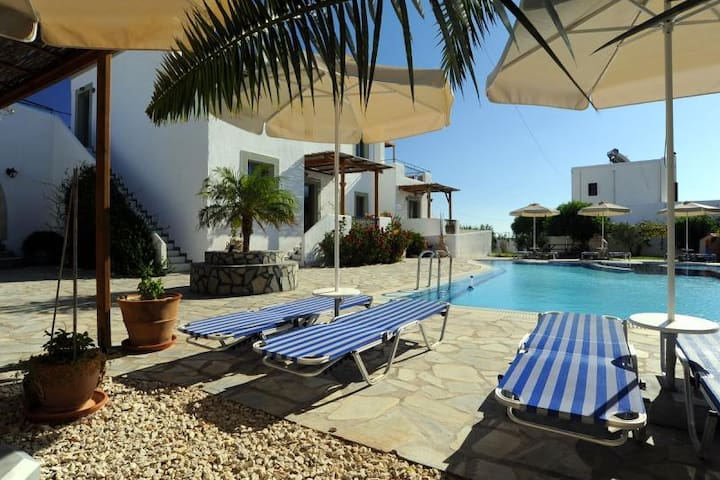 Sea view studio with swimming pool AQUA - Rodos