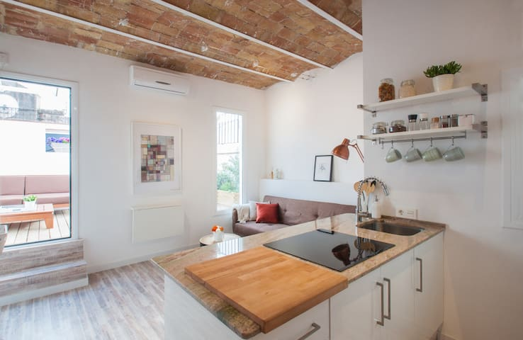 Amazing 2Bed w/terrace near Plaza Espanya