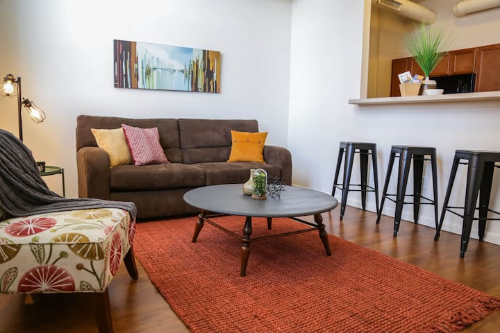 BOHO INDUSTRIAL 2BR APT NORTH OF MASS AVE