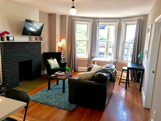 Modern cozy city-view apartment near downtown/OTR!