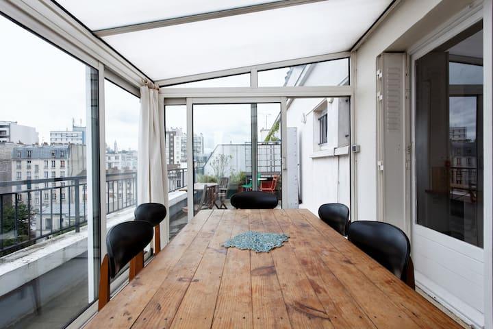 La véranda et la terrasse