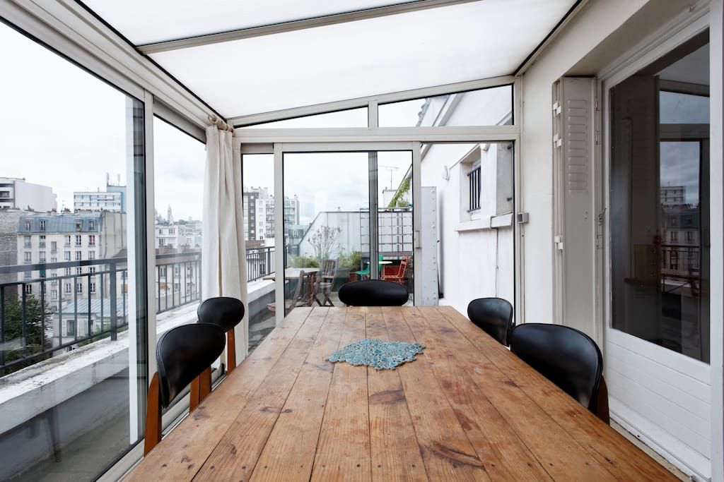 Penthouse avec terrasse montmartre appartements for Location appartement avec terrasse paris