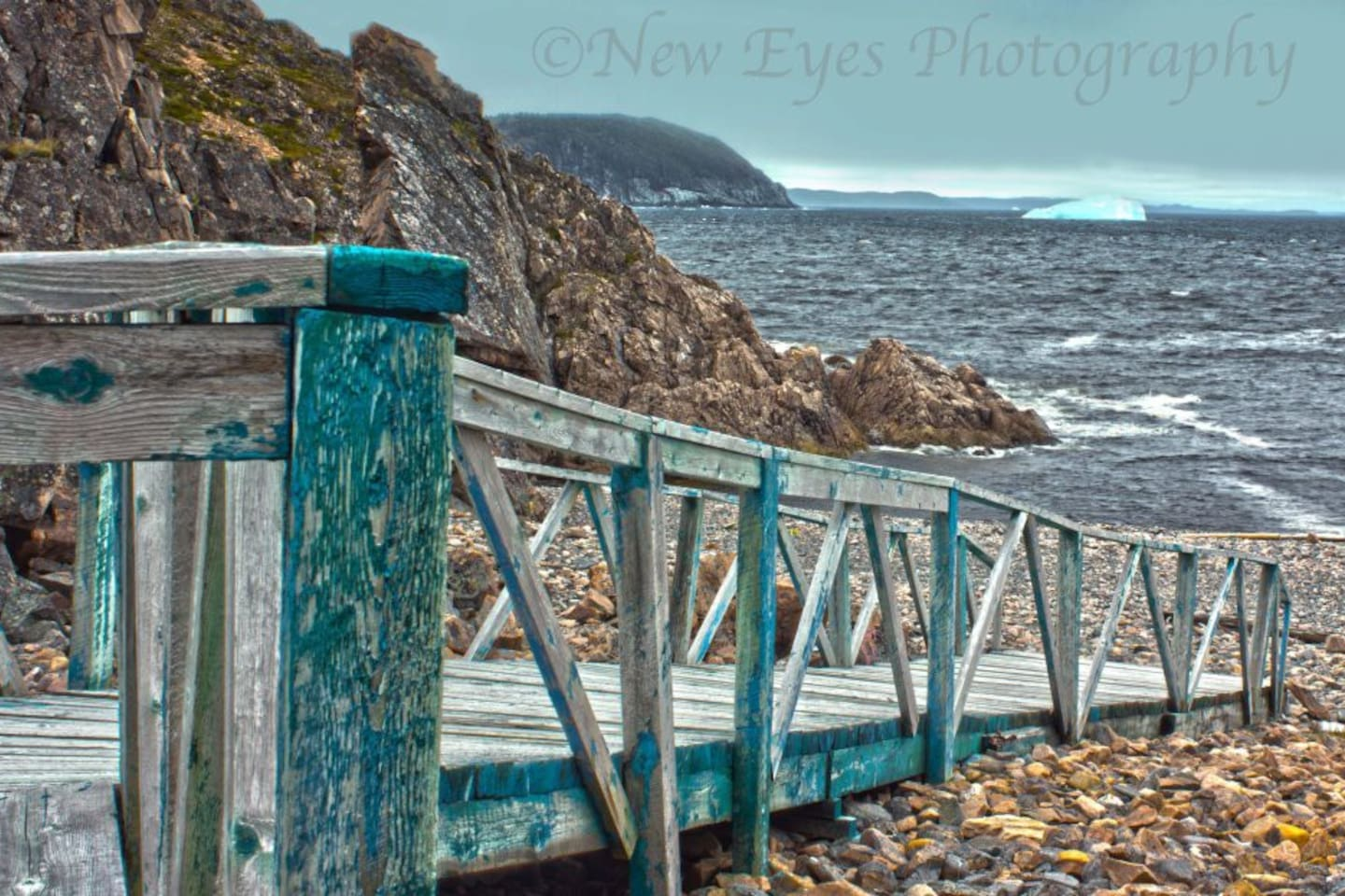 This is the rampway to Island Cove beach, about a 5 minute walk from the door.