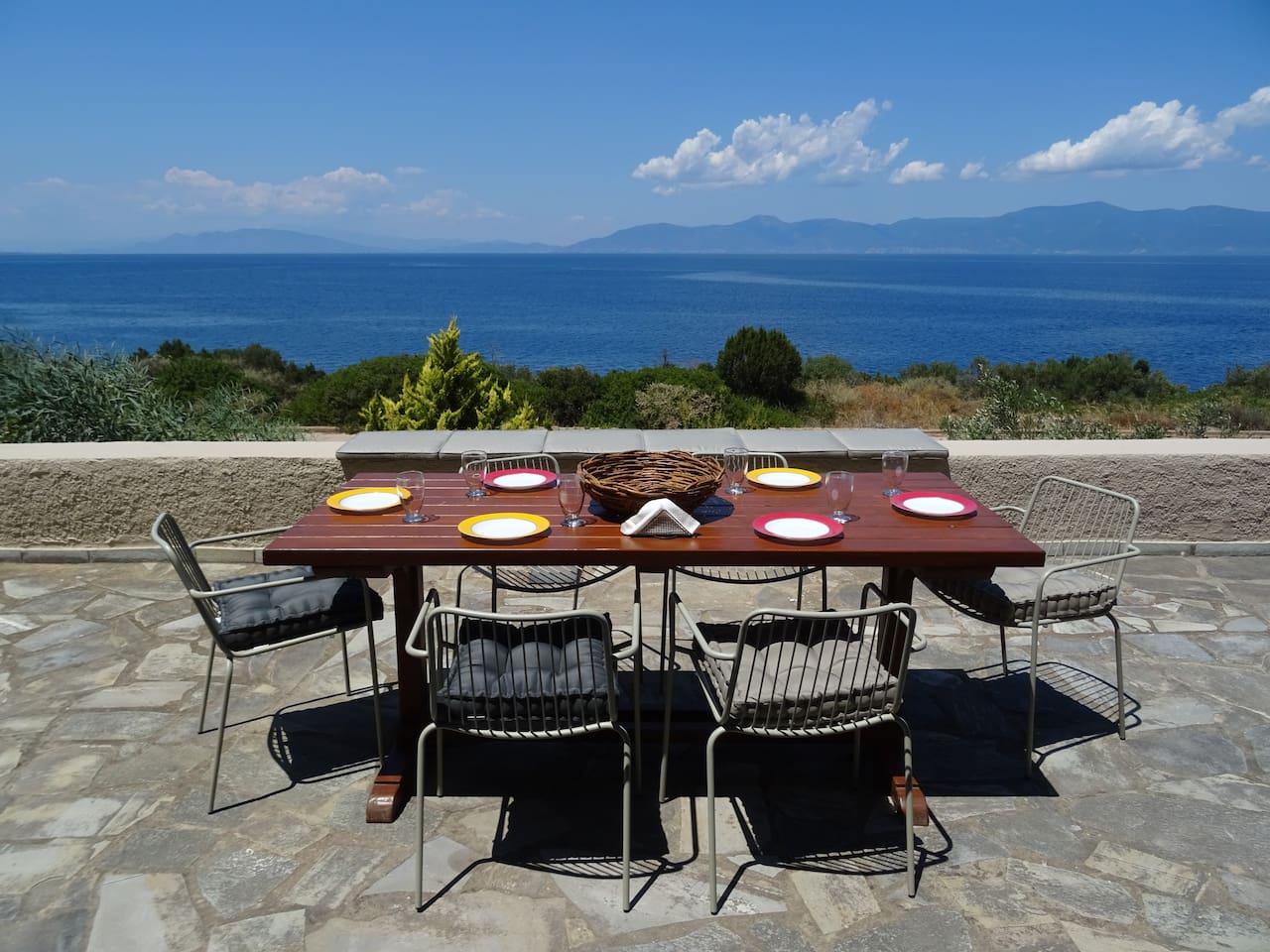 Panoramic view from the Veranda