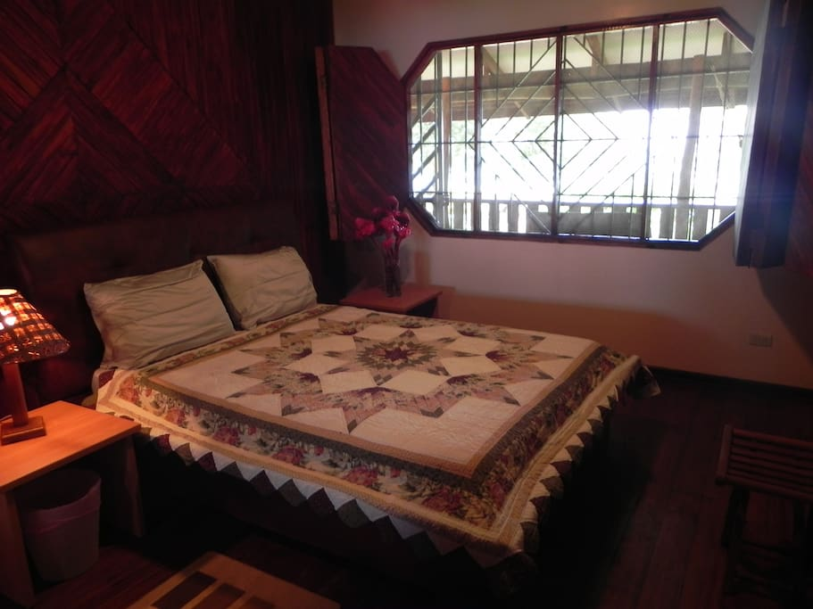 view is the sea---queen size bed upstairs