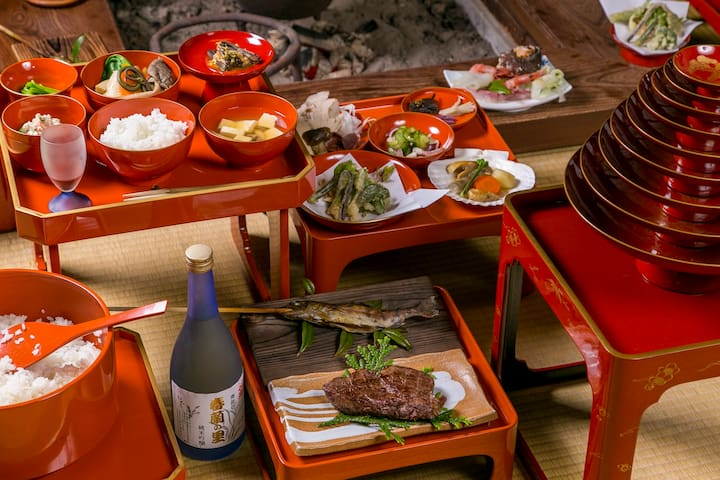 Farmstay w/ 2 meals+firepit+private Goemon bath