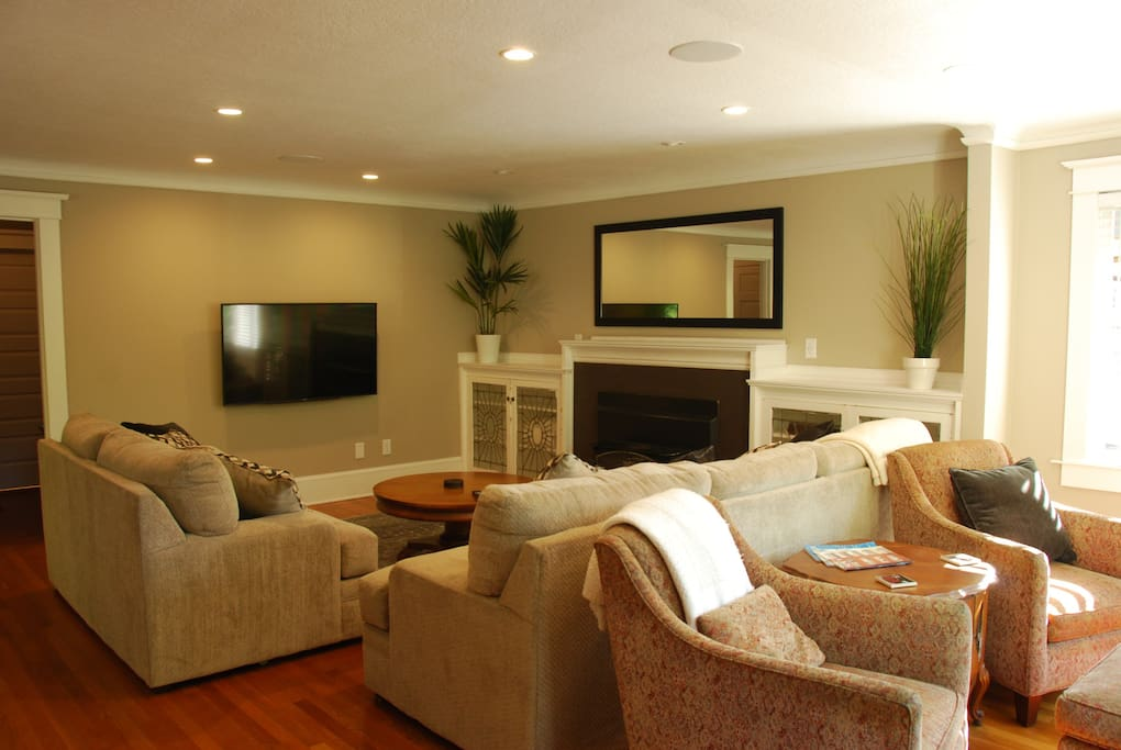 large tv, and plenty of seating for just relaxing or visiting