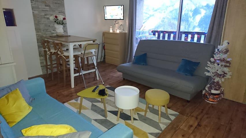 Superbe appartement Pra-loup 1500 à 80m télécabine