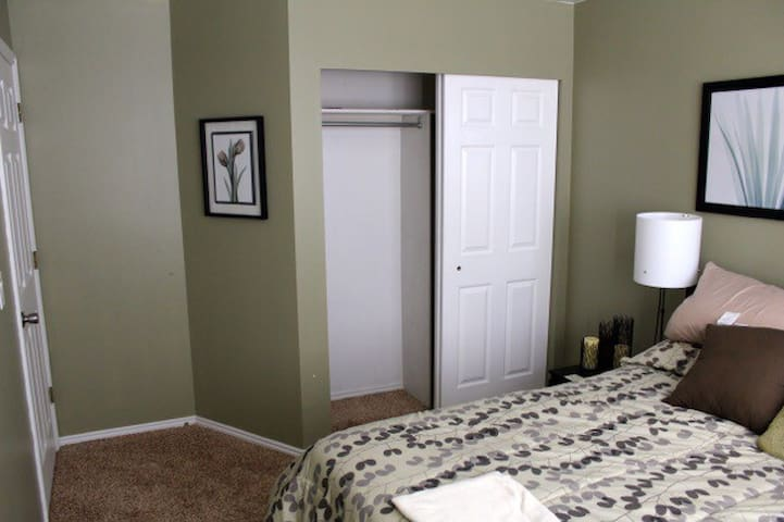 Guest room with closet.