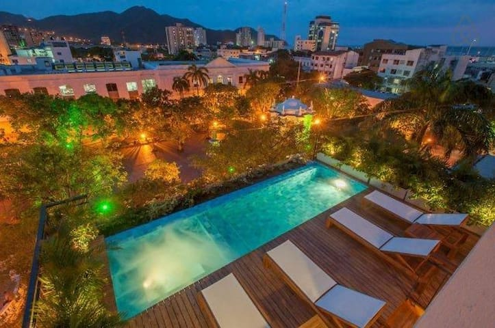 Studio apartment with pool on the roof - Santa Marta - Byt
