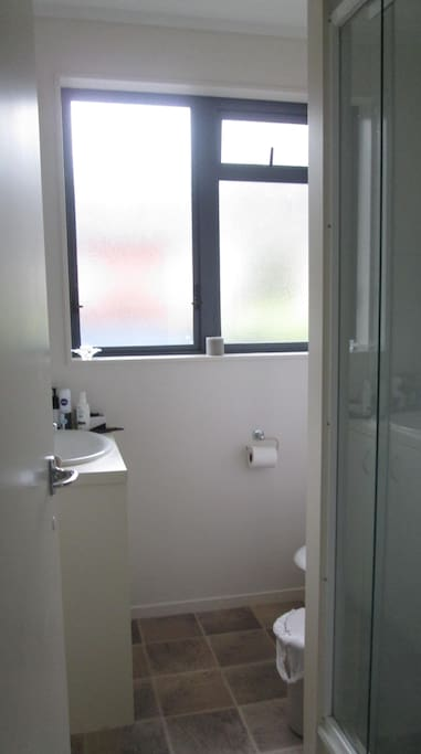 Bathroom with toilet/shower