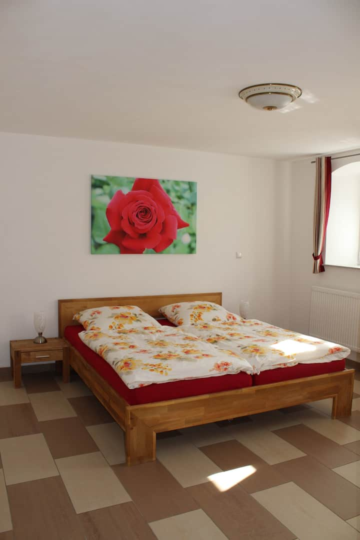 double room in rural idyll